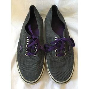 VANS Lace Up Canvas Casual Shoes Women 9 Men 7.5